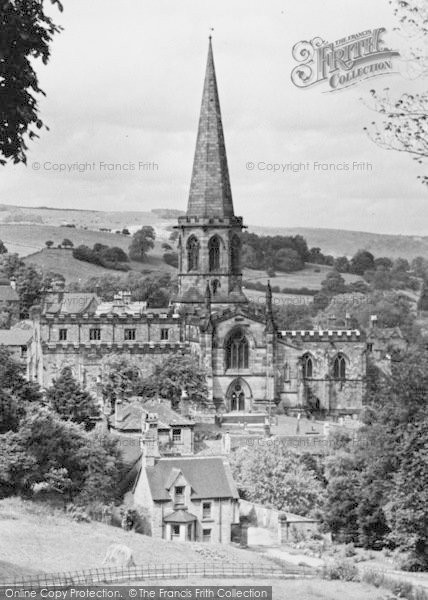 Photo of Bakewell, All Saints Church c.1955