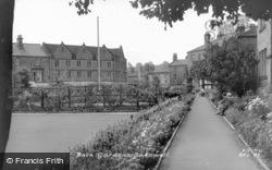 Bath Gardens c.1955, Bakewell