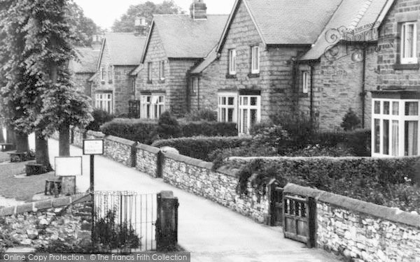 Photo of Bakewell, Houses By The River Wye c.1955