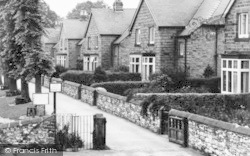 Bakewell, Houses By The River Wye c.1955