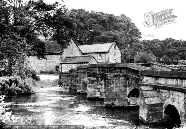 Bakewell, Old Packhorse Bridge c.1955