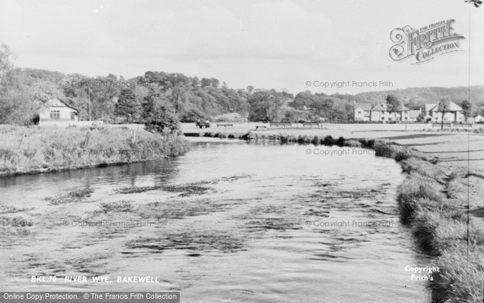 Photo of Bakewell, River Wye c.1955
