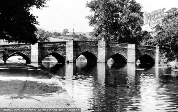 Photo of Bakewell, The Bridge And River Wye c.1955