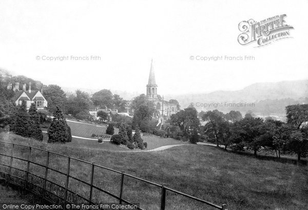 Bakewell, view from Yeld Road 1894