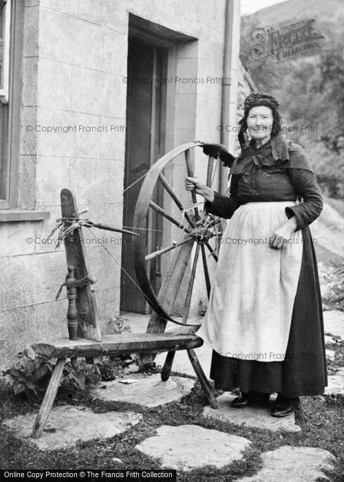 Photo of Bala, Lady With Spinning Wheel c.1860