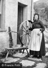 Bala, Lady with Spinning Wheel c1860