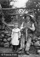 Bala, Old Man Knitting Stockings 1875