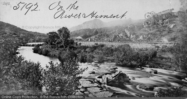 Bala, On The River Hirnant c.1870