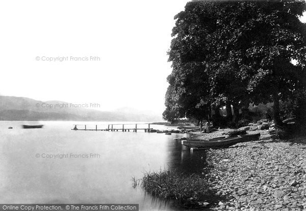 Bala, Pier At Llanycil 1888
