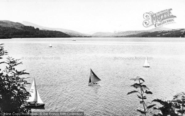 Photo of Bala, The Lake Showing Cader Idris 1955