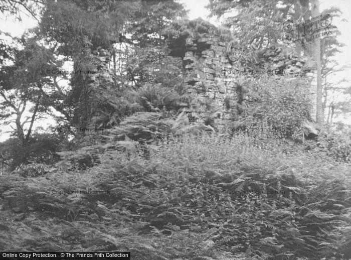 Photo of Baldernock, Craigmaddie Castle Ruins 1951