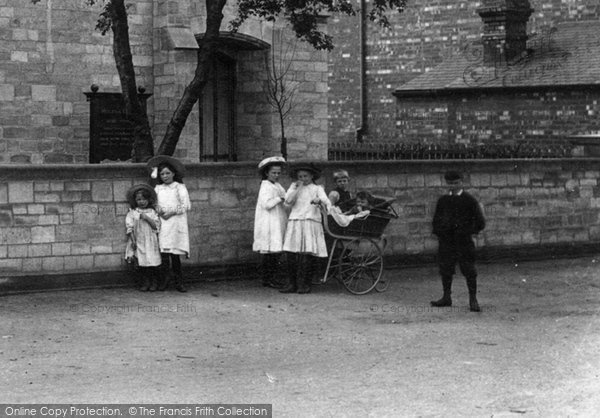 Photo of Balderton, Children At The Chapel 1909