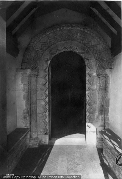 Photo of Balderton, Church, South Porch 1890