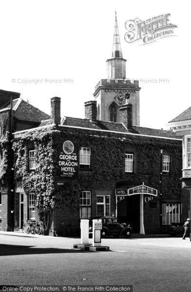 Photo of Baldock, George And Dragon Hotel c.1950