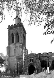Baldock, St Mary's Church c.1955