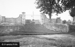 Baldock, The Memorial Garden Gate c.1960