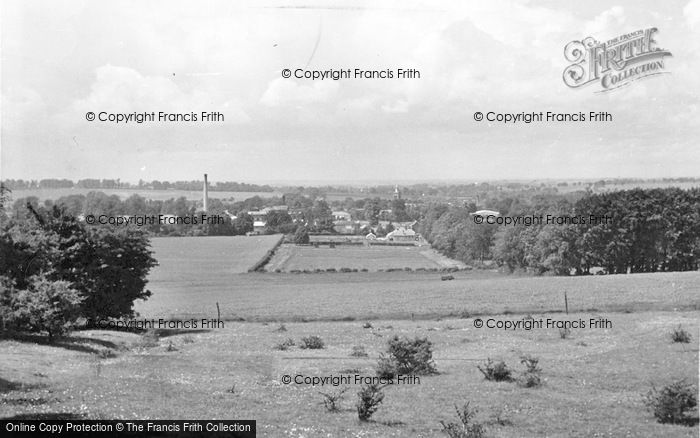 Photo of Baldock, The Town From The Weston Hills c.1955