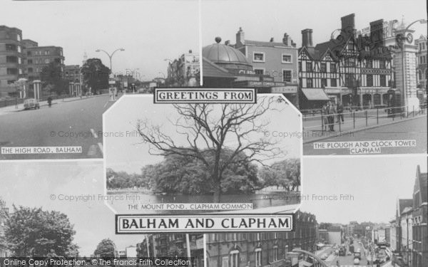 Photo of Balham, And Clapham Composite c.1965