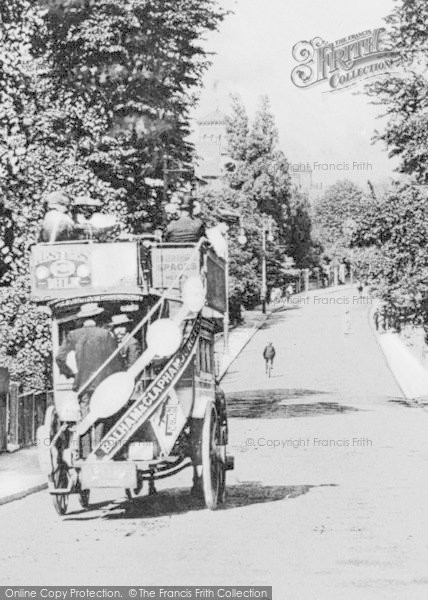 Photo of Balham, Horse Drawn Bus In Nightingale Lane c.1905