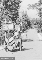 Balham, Horse-Drawn Bus In Nightingale Lane c.1905