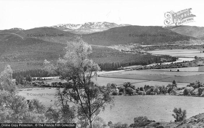 Photo of Ballater, A Glimpse Of The Dee And Lochnager At Bridge Of Gairn c.1930
