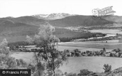 Ballater, A Glimpse Of The Dee And Lochnager At Bridge Of Gairn c.1930