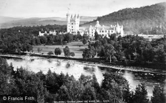 Balmoral Castle, from the River c1880