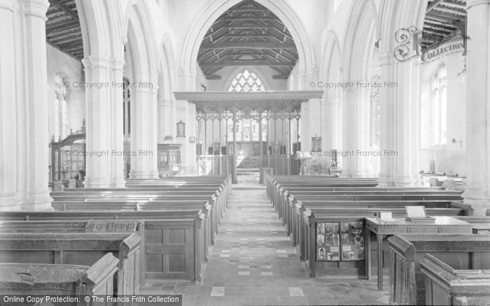 Photo of Balsham, The Church Interior 1959