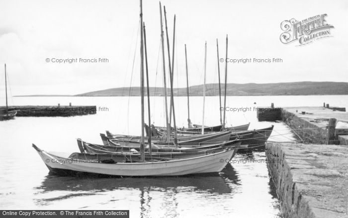 Photo of Baltasound, Boats In The Harbour c.1960