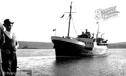 Baltasound, 'earl Of Zetland' Arriving c.1960