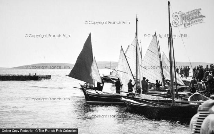 Baltasound, Fishing Boats c.1965