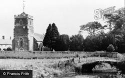 Baltonsborough, St Dunstan's Church And The River c.1950