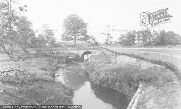 Photo of Bamber Bridge, The River Lostock, Cuerden Park c.1955