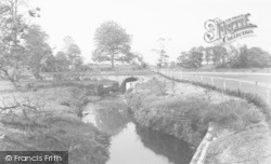 Bamber Bridge, The River Lostock, Cuerden Park c.1955