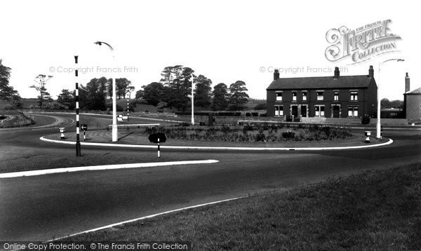 Photo of Bamber Bridge, The Roundabout c.1955
