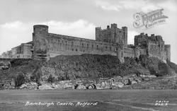 Bamburgh, Castle c.1955