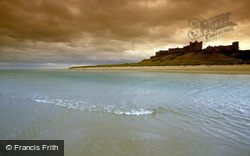 Bamburgh, Castle From North East c.1995