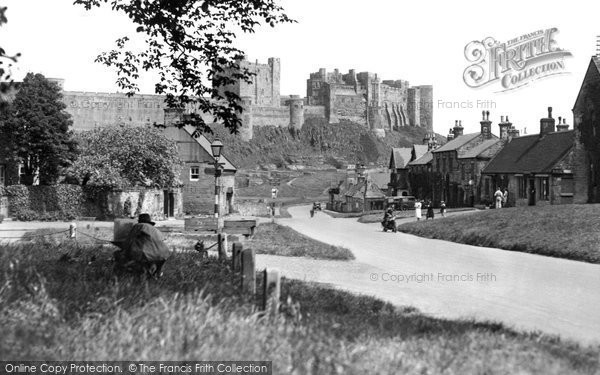 Bamburgh, Castle From The Green c.1955