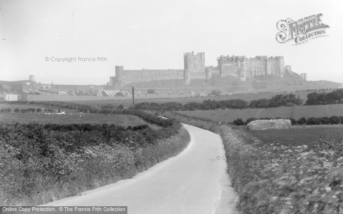Photo of Bamburgh, Castle From The West c.1935