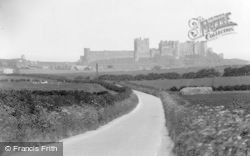 Bamburgh, Castle From The West c.1935