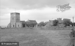 Bamburgh, Church And Castle 1962