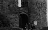 Bamburgh, People Entering The Castle 1962