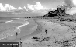 Bamburgh, The Castle And Beach 1954