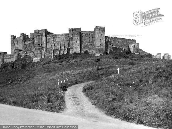 Photo of Bamburgh, the Castle from the Slopes c1935, ref. B547020a