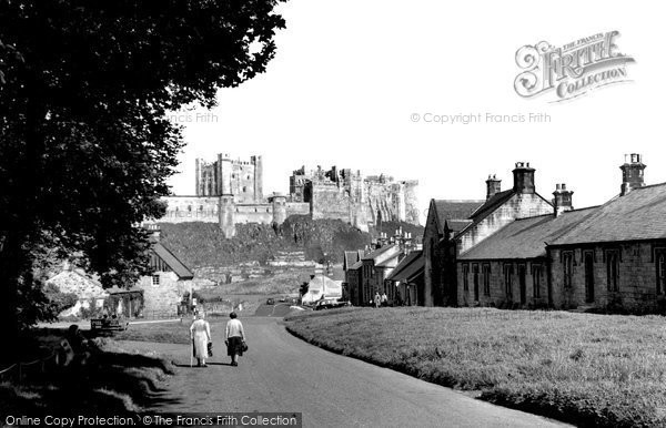 Photo of Bamburgh, the Village and Castle 1954, ref. B547021b