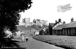 Bamburgh, The Village And Castle 1954