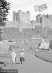 Bamburgh, Two Ladies And The Castle 1954