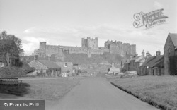 Bamburgh, Village And Castle 1954