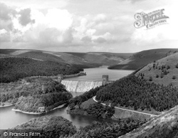 Bamford, Derwent Valley Reservoir And Howden Dam c.1965