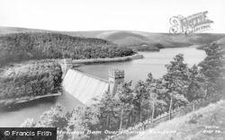 Bamford, Howden Dam Overflowing c.1965